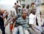 des victimes du tremblement de terre en haïti