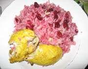 poulet au riz et aux cerises