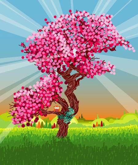 درخت طنين آواي خداوند است