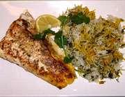 سبزی پلو با ماهی
