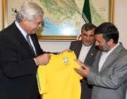 اهدا پیراهن برزیل به احمدی نژاد