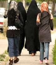 مد گرایی ، شلوار تنگ ، مانتو کوتاه ،  دختران با حجاب