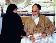 امام خمینی و همسر مکرمه