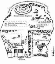 croquis de la grotte espahbod-e khorshid
