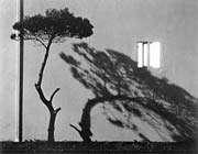 سايه اشياء در مقابل چشمه نور