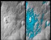 نقشه مکان یابی آب در سطح ماه