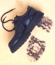 کفش آلوده
