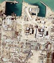 la centrale nucléaire de busher au sud de l'iran