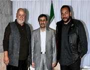 dieudonné chez le président iranien ahmadinejad