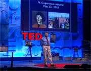 ساسلوف بر صحنه کنفرانس تد