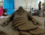 iran opens 6th sand sculpture festival