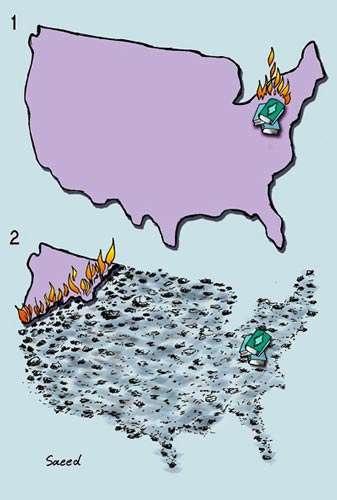 طرح عاقبت آتش زدن