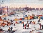 نمایشگاه زمستانی بر روی رودخانه یخزده تایمز