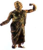 statue en céramique de zeus, époque de séleucide