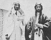 nationalisme arabe et sionisme: l'emir faycal 1er et le sioniste chaim waizman (à gauche en tenue arabe)