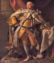 le roi fou britannique george iii vers la fin du 18ème siècle