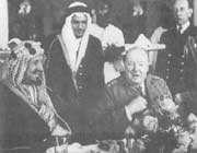 rencontre entre le roi saoudien et churchill en 1945
