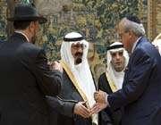 un sioniste salue le roi saoudien abdallah