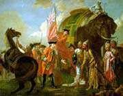 la rencontre de clive avec mir ja'far après la bataille de plessey en 1760
