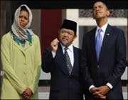 الرئيس الاميركي باراك اوباما و نظیره الاندونيسيایي