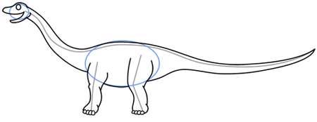 یک دایناسور دم دراز