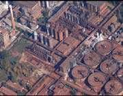 vue aérienne de l'usine d'ajka