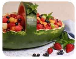 تزیین هندوانه