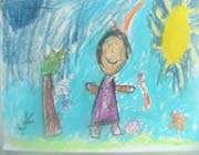 الرسم في عالم الطفولة