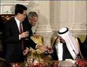 الملک السعودي و بوش الرئيس الامريکي