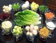 سالاد کاهو با سبزیجات برشته