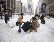 tempête de neige sur le nord-est des etats-unis
