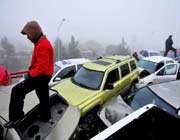 un accident sur une autoroute