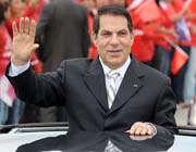 تونس رییس جمهور بن علی