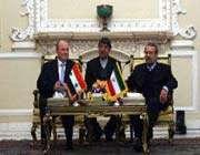 le président du parlement iranien et le président du parlement syrien