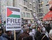 manifestation à londres pour la fin du siège israélien de gaza