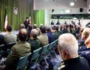 une audience accordée aux commandants et aux responsables militaires du pays