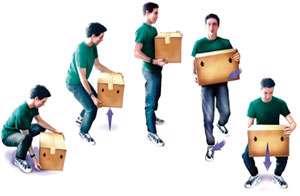 پیشگیری از کمردرد با حمل صحیح اشیاء