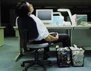 کم خوابی ناشی از کار زیاد
