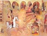 the princess by farideh khalatbaree, illustrated by fereshteh najafi, shabaviz publication,2009.