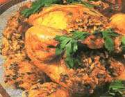 الدجاج المحشو بالارز