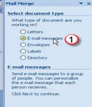 email با استفاده از mail merge