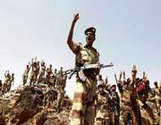 soldiers sympathetic to antiregime protesters chanted slogans against yemeni president saleh in san'a on friday, a day of countrywide rallies.