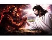 انسان و شیطان مبارزه مچ اندازی