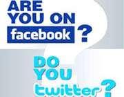 الفيس بوك و تويتر