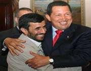 ahmadinejad congratulates chavez on national day