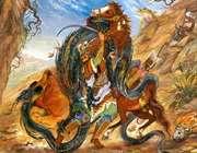 اژدها کشان و به بند کشان اژدها