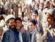 اکبر کاراته و الاغش در جبهه