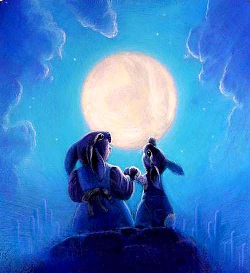 ماه و خرگوش