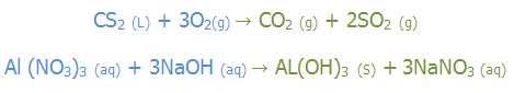 موازنه کردن معادله ی یک واکنش شیمیایی