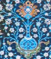 décor en mosaïque de céramique émaillée